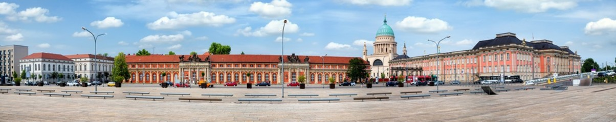 City skyline of the historical district in Potsdam, Germany
