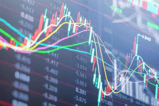 Stock market stock securities trading data analysis, trading data background