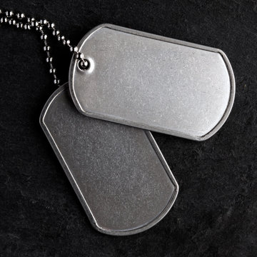 Old military dog tags - Blank