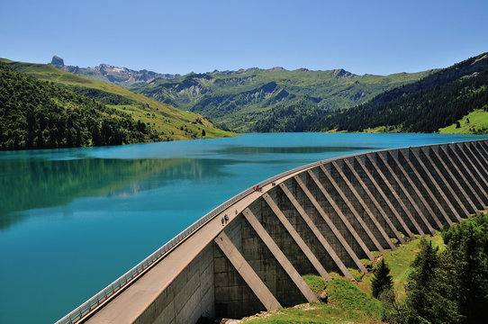 Rolesend Dam and Lake, Savoie, France