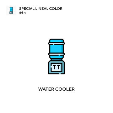 Water cooler Special lineal color vector icon. Water cooler icons for your business project