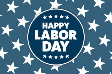 Labor Day in the United States. Holiday concept. Template for background, banner, card, poster with text inscription. Vector EPS10 illustration.