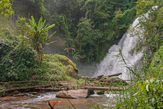 Pha Dok Siew Waterfall  in Inthanon national park Thailand