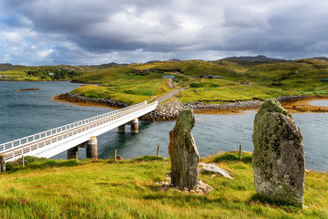 Wall Mural - The bridge over the Atlantic and the standing stones of Callanish VIII