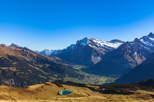 aerial, Alpine, Alps, attraction, autumn, beautiful, Bern, Bernese Oberland, cliff, destination, Europe, European, famous, forest, glacier, grass, Grindelwald, ice, lake, landmark, landscape, Maennlic