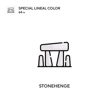 Stonehenge Special lineal color vector icon. Stonehenge icons for your business project