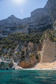 View of Coast and the Tyrrhenian Sea at Gennargentu National Park, Sardinia, Italy 1