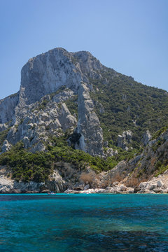 View of Coast and the Tyrrhenian Sea at Gennargentu National Park, Sardinia, Italy 2