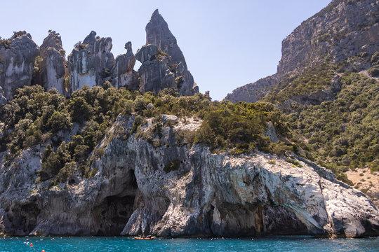 View of Coast and the Tyrrhenian Sea at Gennargentu National Park, Sardinia, Italy 3
