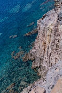 View of Mediterranean Sea from Belvedere di Capo Sandalo, Carloforte, Sardinia, Italy 1