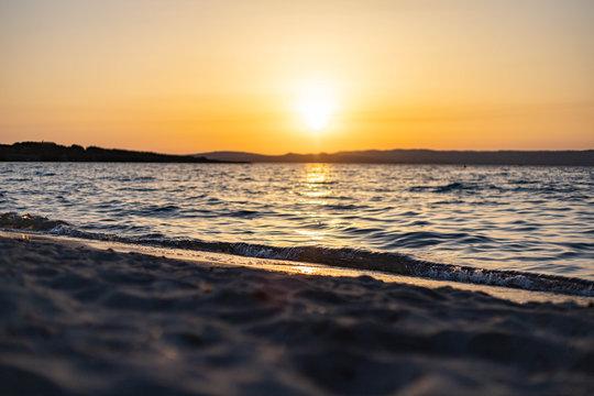 Sunset at Spiaggia La Salina, Sardinia, Italy 1