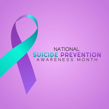Suicide Prevention Awareness Month Vector Illustration