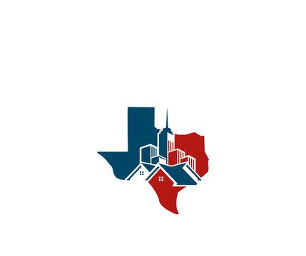 Texas building icon logo design template