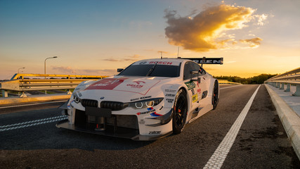 BMW M4 Turbo DTM, a car from the DTM racing series in the colors of the Polish concern Orlen, in which Robert Kubica races