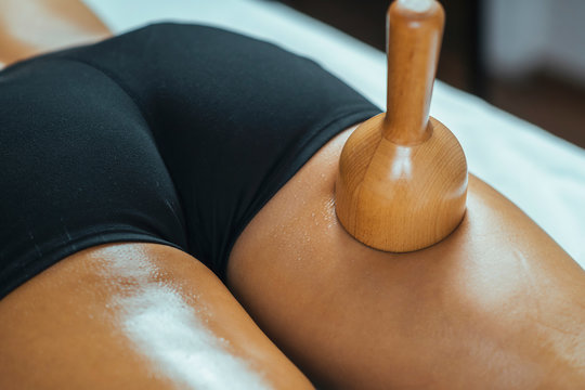 Wooden Vacuum Cup Maderotherapy Anti Cellulite Massage Treatment
