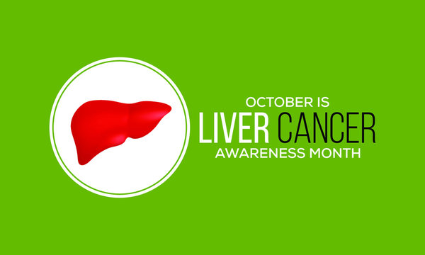Vector illustration on the theme of Liver Cancer awareness month observed each year during October.