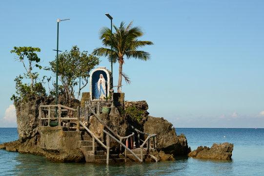 The catholic sanctuary on Willy Rock. Boracay. Western Visayas. Philippines