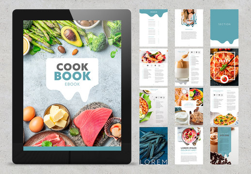 Green Cookbook Style Ebook Layout
