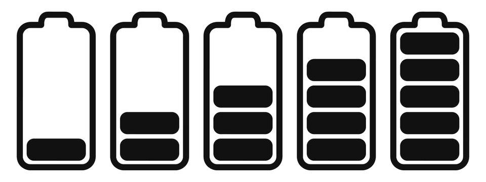 Akku Batterie Set mit verschiedenen Ladeständen