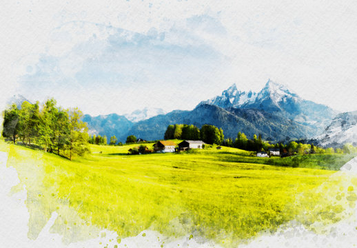 Photographic Watercolor Painting Effect