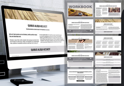 Online Learning Workbook Presentation Layout