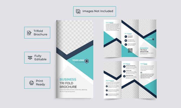 Brochure design, business brochure template, creative tri-fold, trend brochure template fully editable
