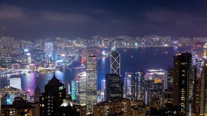Wall Mural - Hong Kong city at night