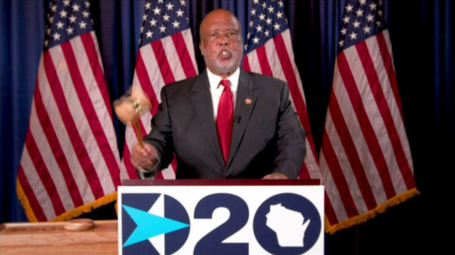 Democratic National Convention Chair Rep. Bennie Thompson officially gavels in first day of the virtual 2020 Democratic Convention from Milwaukee, Wisconsin