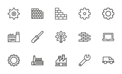 Production line icons set.