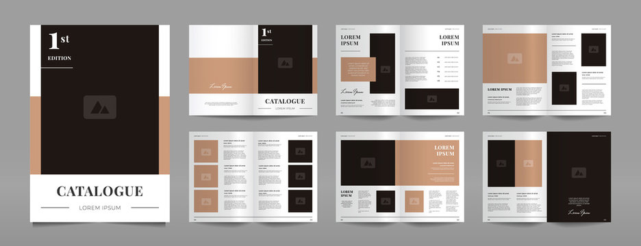 modern a4 product catalog design template