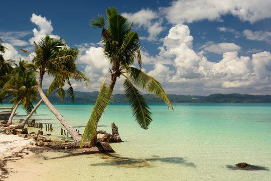 Tropical beach. Boracay island. Western Visayas. Philippines