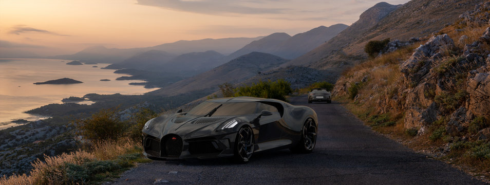 Bugatti La Voiture Noire, the most expensive car in the world on the road