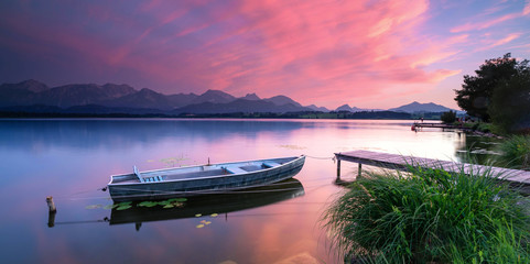 Wall Mural - zauberhafter Sonnenuntergang am See