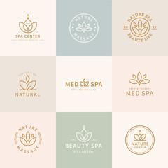 Obraz Set of lotus logo design - fototapety do salonu