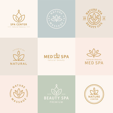 Set of lotus logo design