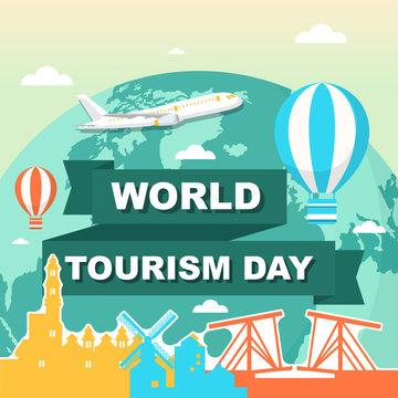 Amsterdam City Netherlands Europe Travel World Tourism Day Illustration