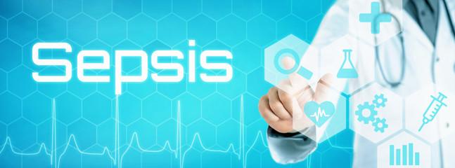 Arzt mit futuristischem Interface - Sepsis