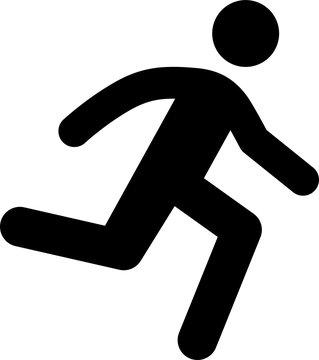 走っている人のピクトグラム