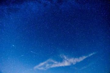 Fototapeta Galaktyka Andromedy i rój Perseidów. Coroczne meteoryty na półkuli północnej. Nocne niebo pełne gwiazd. obraz