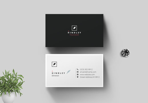 Minimal Individual Business Card Layout