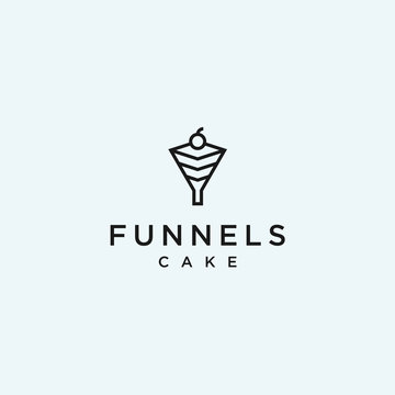 abstract cake logo. funnel icon
