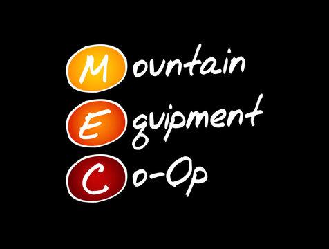 MEC - Mountain Equipment Co-Op acronym, business concept