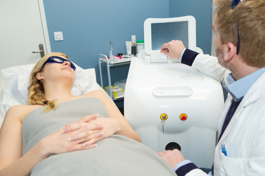 concept of the laser therapy