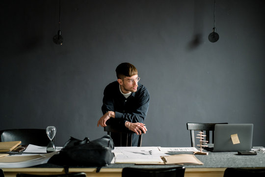 Relaxed architect in modern office