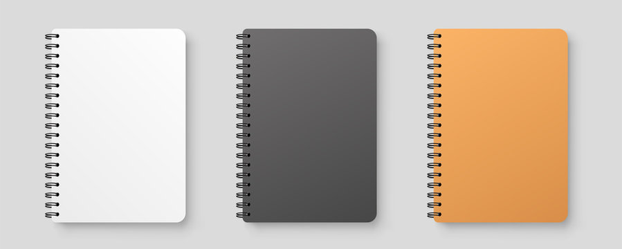 Realistic blank notebook. Notepad mock up with shadow isolated on isolated background.
