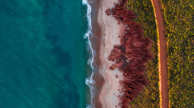 rugged coastline from above