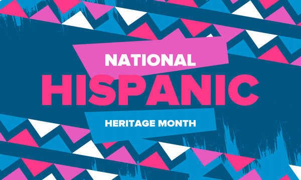 National Hispanic Heritage Month in September and October. Hispanic and Latino Americans culture. Celebrate annual in United States. Poster, card, banner and background. Vector illustration