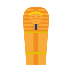 ancient egyptian coffin icon, flat style