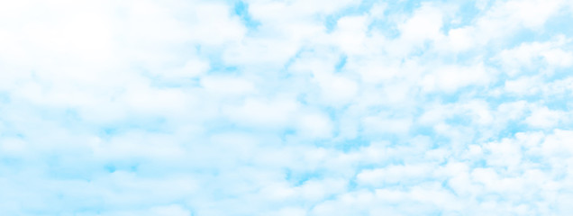 Photo sur Plexiglas Bleu clair Blue sky and clouds panoramic shot 3507