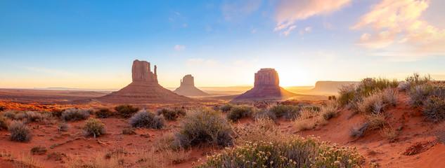 The unique nature landscape of Monument Valley in Utah